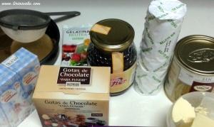 Ingredientes tarta trufa de chocolate sin gluten