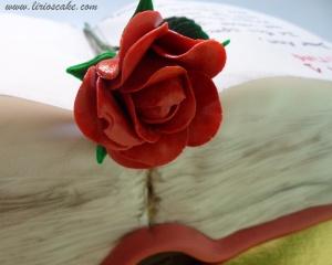 Rosa pasta de goma