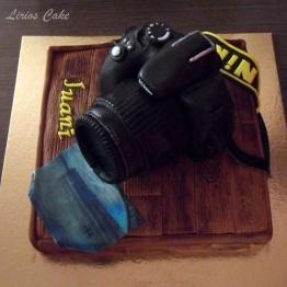 Tarta cámara de fotos